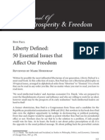Liberty Defined 50 Essential Issues That Affect Our Freedom (Book Review)