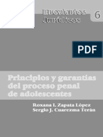 ZAPATA LÓPEZ. Roxana I., CUAREZMA TERÁN. Sergio J., PRINCIPIOS Y GARANTÍAS DEL PROCESO PENAL DE ADOLESCENTE.