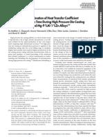 Heat Transfer Coefficent Measurement