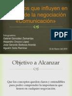 Elementos que influyen en el éxito de la negociación «Comunicación»