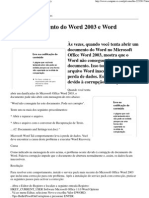 Ilegível documento do Word 2003 e Word Recovery