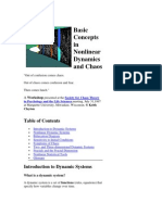 Basic Concepts in Nonlinear Dynamics and Chaos