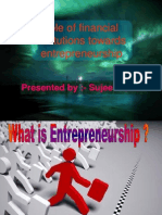Role of Financial Institutions Towards Indian Entrepreneurship
