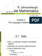 ch2. Language of Mathematics