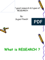Essentials of Good Research