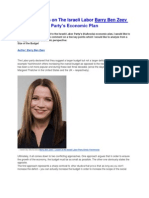 Barry Ben Zeev - Five Insights on The Israeli Labor Party's Economic Plan