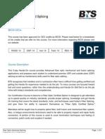 BTS Training Fiber Optic Advanced Splicing
