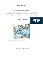 Homeostasia y Convalecencia