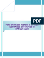 performance analysis of life insurance companies in Bangladesh