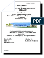 Project on merger and acquisition