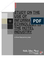 Study on the Use of Informationtechnology in the Hotel Industry