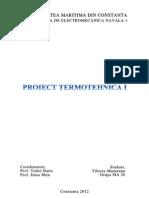 Proiect Termotehnica I