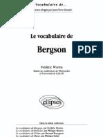 Worms, Frédéric - Le vocabulaire de Bergson