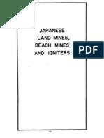 21 Japanese Land Mines Beach Mines and Igniters USA 1944