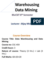Unit 1 - Introduction to Data Mining and Data Warehousing