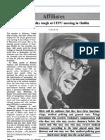 Ivan Illich Talks Tough at CFPC Meeting in Dublin