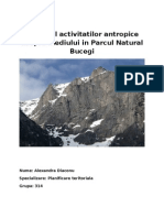 Masivul Bucegi - Interventiile Antropice Asupra Mediului