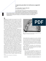 Selective-Pressure Single Impression Procedure for Tooth-Mucosa-supported Removable Partial Dentures