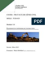 Module Terrassement H-11 - ETS