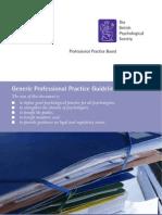 Generic Professional Practice Guidelines