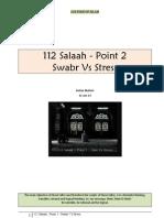 112 Salaah - Point 2 - Swabr vs Stress