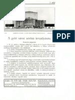 A győri városi színház tervpályázata (első rész), 1929