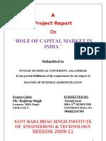 Capital Market Final Report