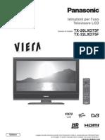 Panasonic Tv Istruzioni TX-26LXD75F