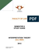 Interpretation Theory Study Guide 2012