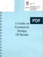 Guide on Geometric Design of Roads