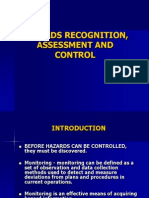 V. Hazards Recognition, Assessment and Control