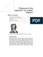 Addison, Joseph - Pleasures of the Imagination & Other Aesthetic Articles