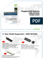 Accuver Supported Devices WCDMA&CDMA