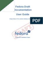 Fedora Draft Documentation 0.1 User Guide en US