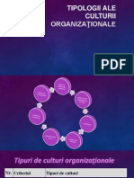 Tipologii ale culturii organizaţionale