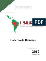 Caderno de Resumos Siliafro 2012
