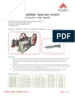 Automatic Wood Screw Making Plant
