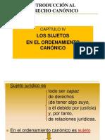 Power Point Sujetos en El Ordenamiento Canonico 27.9.11