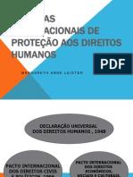 SISTEMAS INTERNACIONAIS DE PROTEÇÃO AOS DIREITOS HUMANOS
