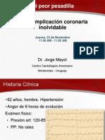 Una complicación coronaria inolvidable por Jorge Mayol