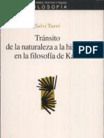 Turro Tránsito de la filosofía de la naturaleza a la historia en Kant