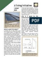 Solar Hot Water Information Sheet