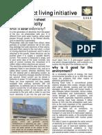 Solar Electricity Information Sheet