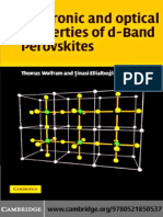 Electronic and Optical Properties of d Band Perovskites