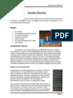Informe Cuerdas Vibrantes 2011-II