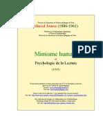 Mimisme Hum Et Lecture