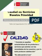 2011 MINSA_Calidad en Servicios es Nuestra Prioridad - Taller.ppt
