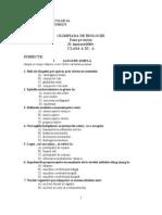 2004 Biologie Locala Subiecte Clasa a XI-A