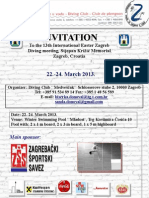 INVITATION to the 13. Easter Zagreb Diving Meeting-Memorial Stjepana Krizica