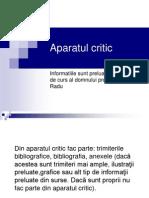 Aparatul Critic -PP
